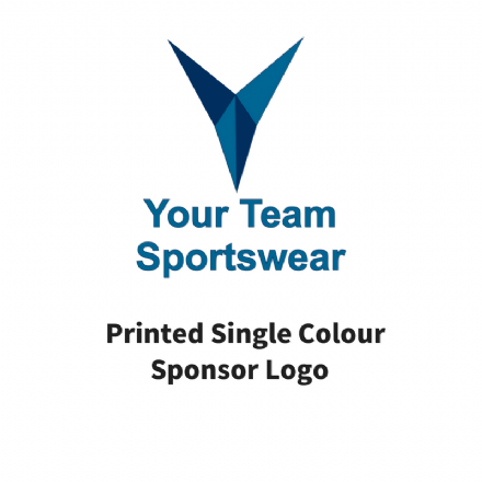 Printed Single Colour Sponsor Logo